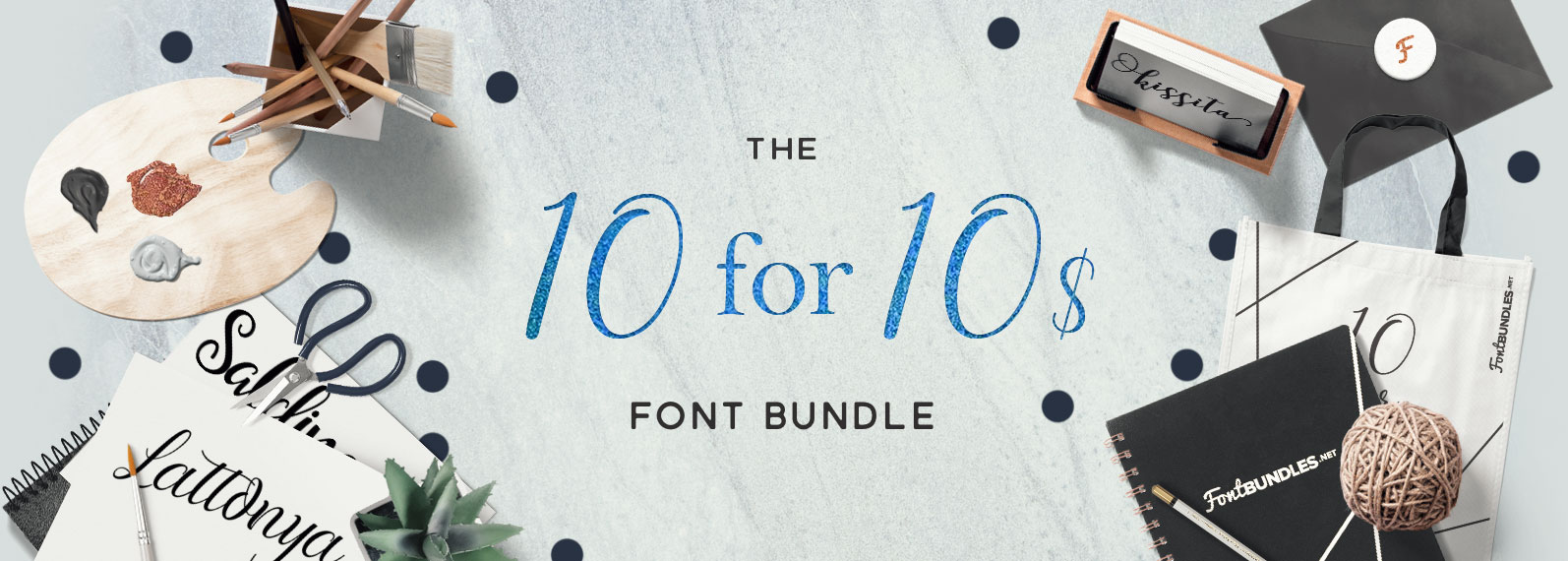 The 10 for 10$ font bundle