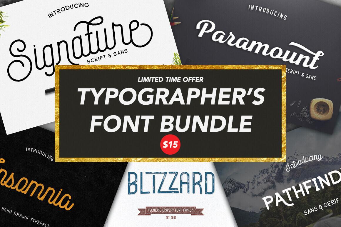 The Typographer's Font Bundle