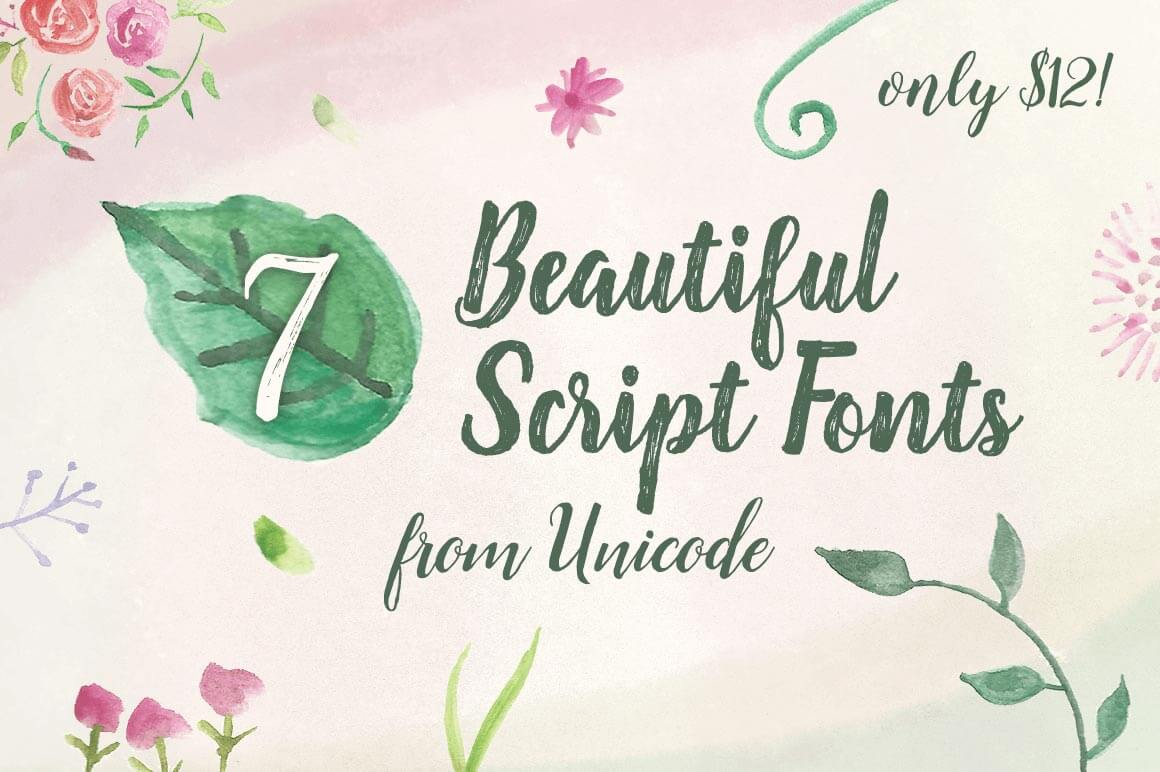 7 Beautiful Script Fonts from Unicode