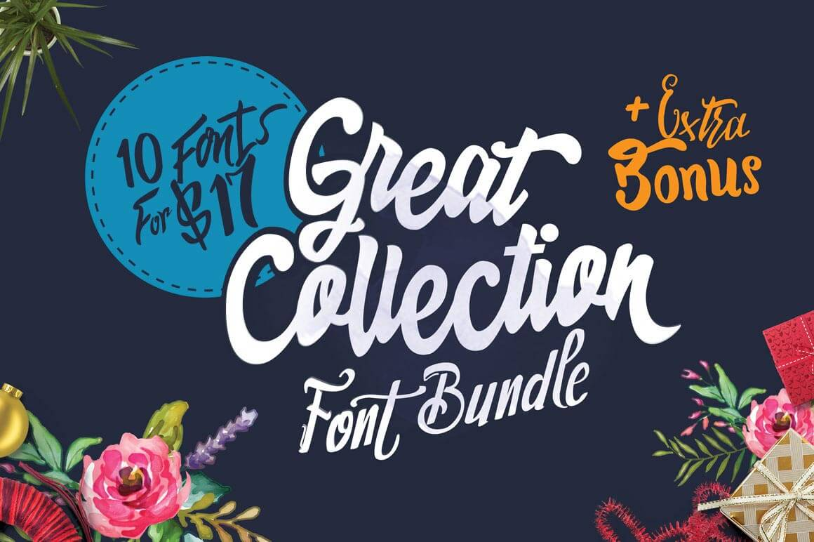 Collection of 10 Unique Fonts From Dirtyline – only $17!