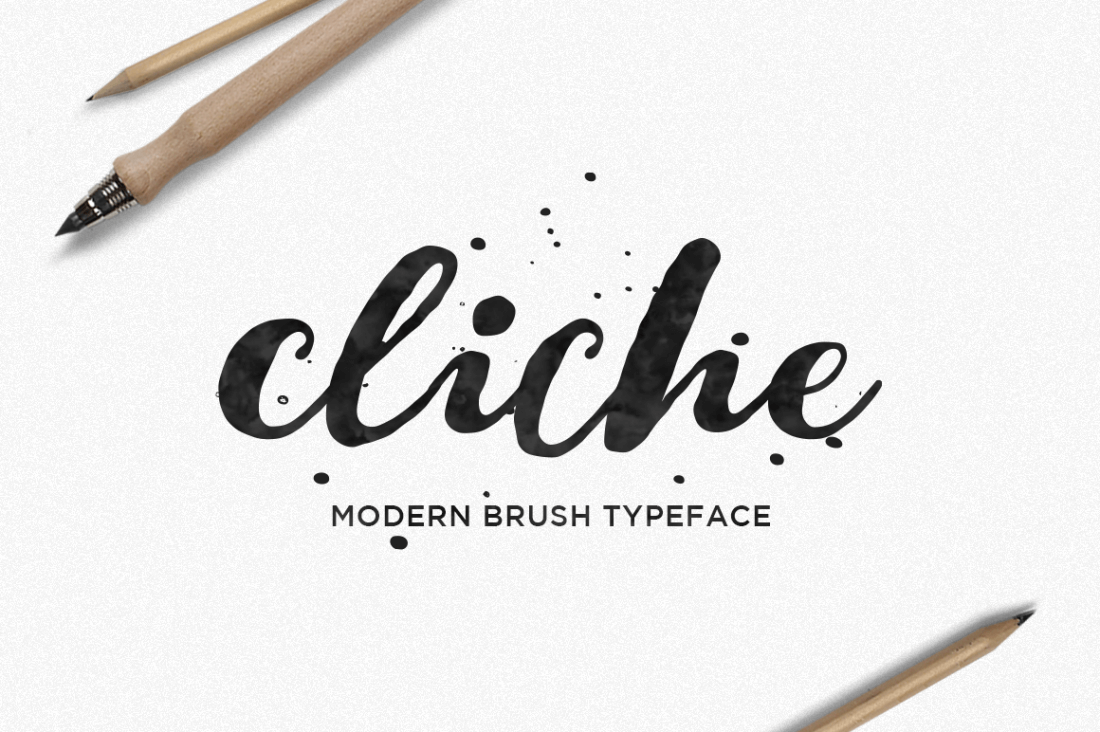 Cliche: A Beautiful Hand-Lettered Brush Font