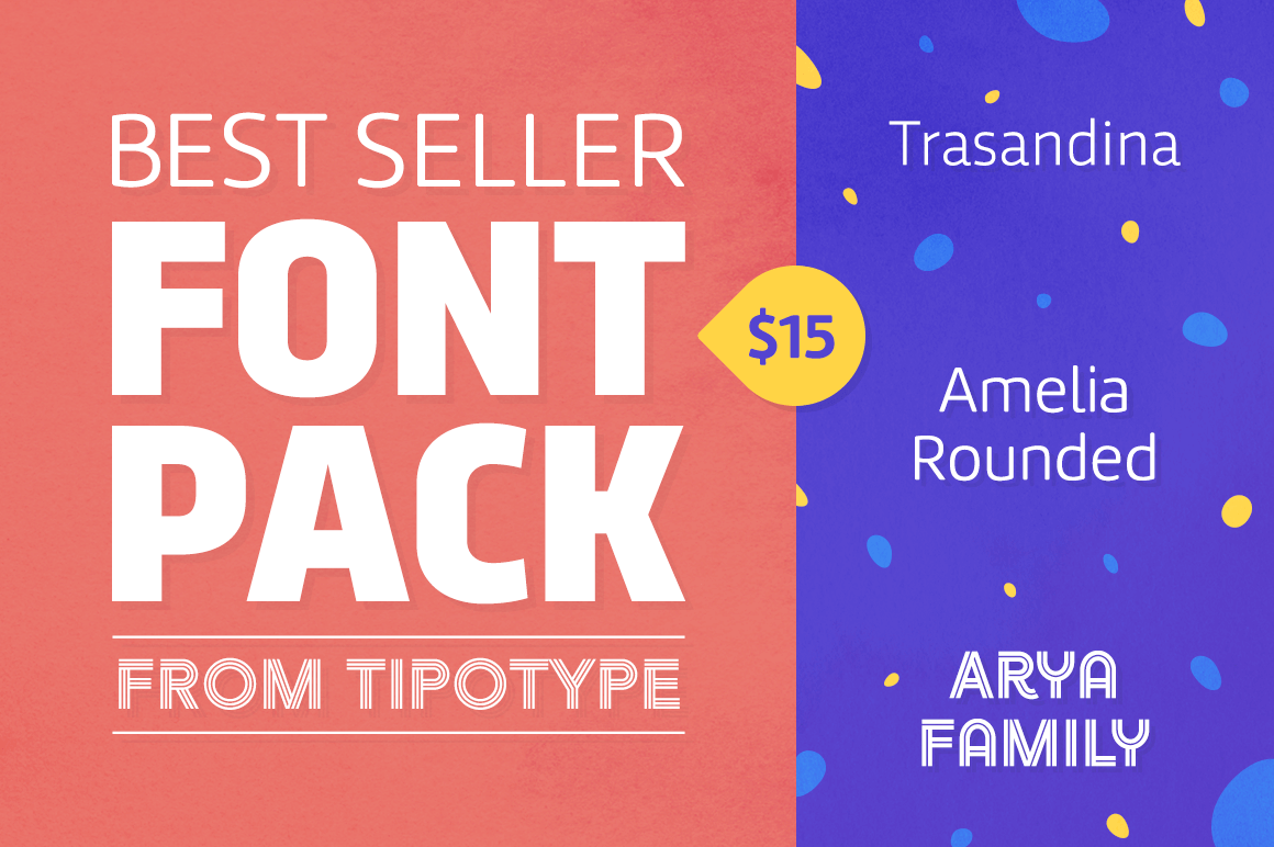 Best Seller Font Pack from TipoType – only $15!