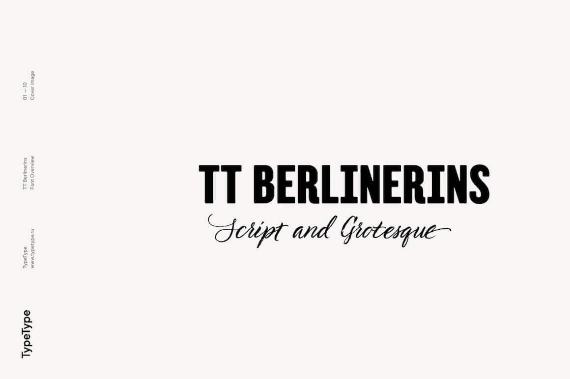 TT Berlinerins Modern Script & Old Grotesk