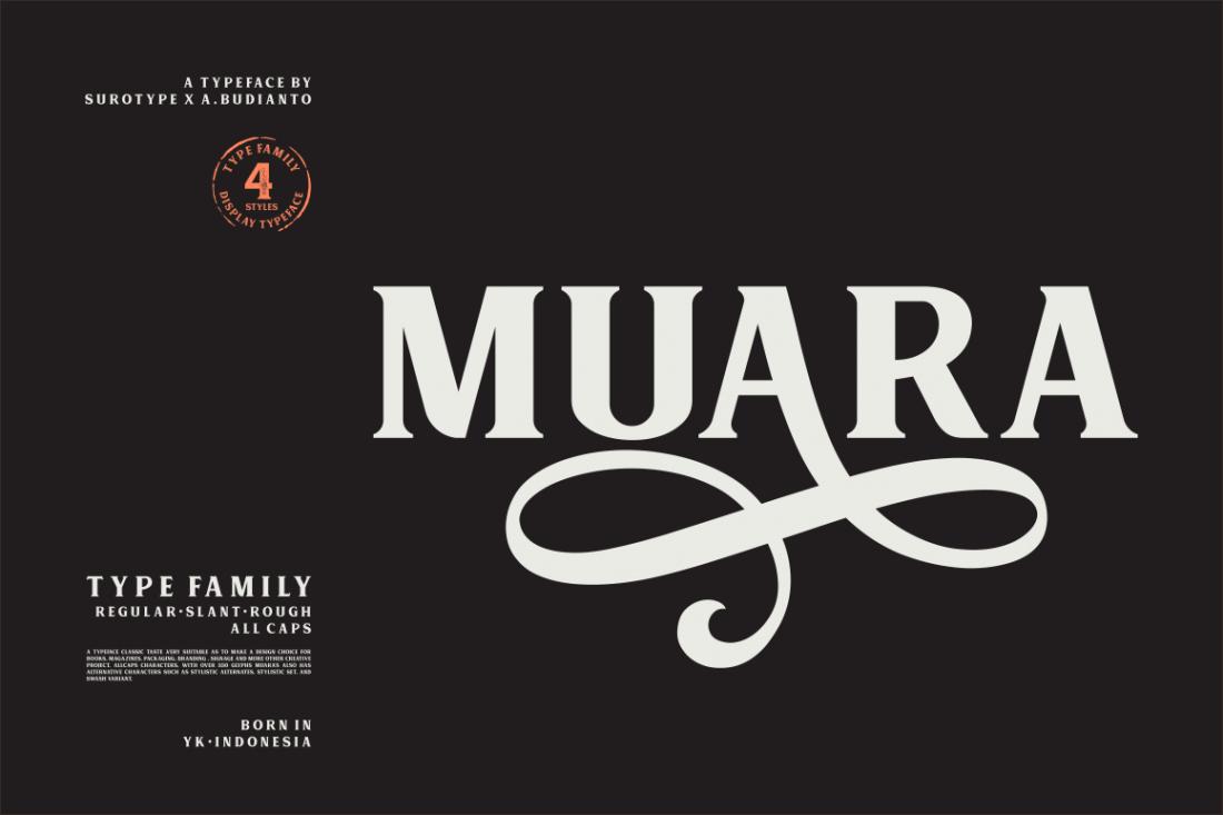 Classic, All-Caps Muara Font Family