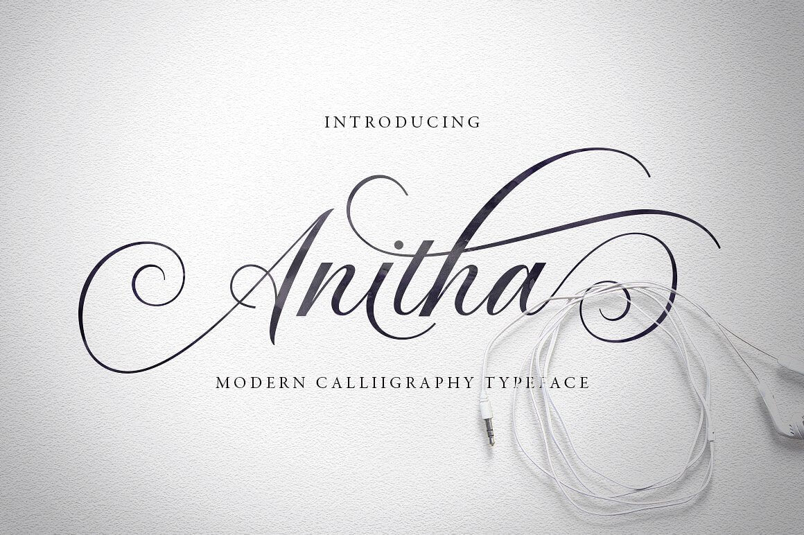 Modern Calligraphy Typeface, Anitha