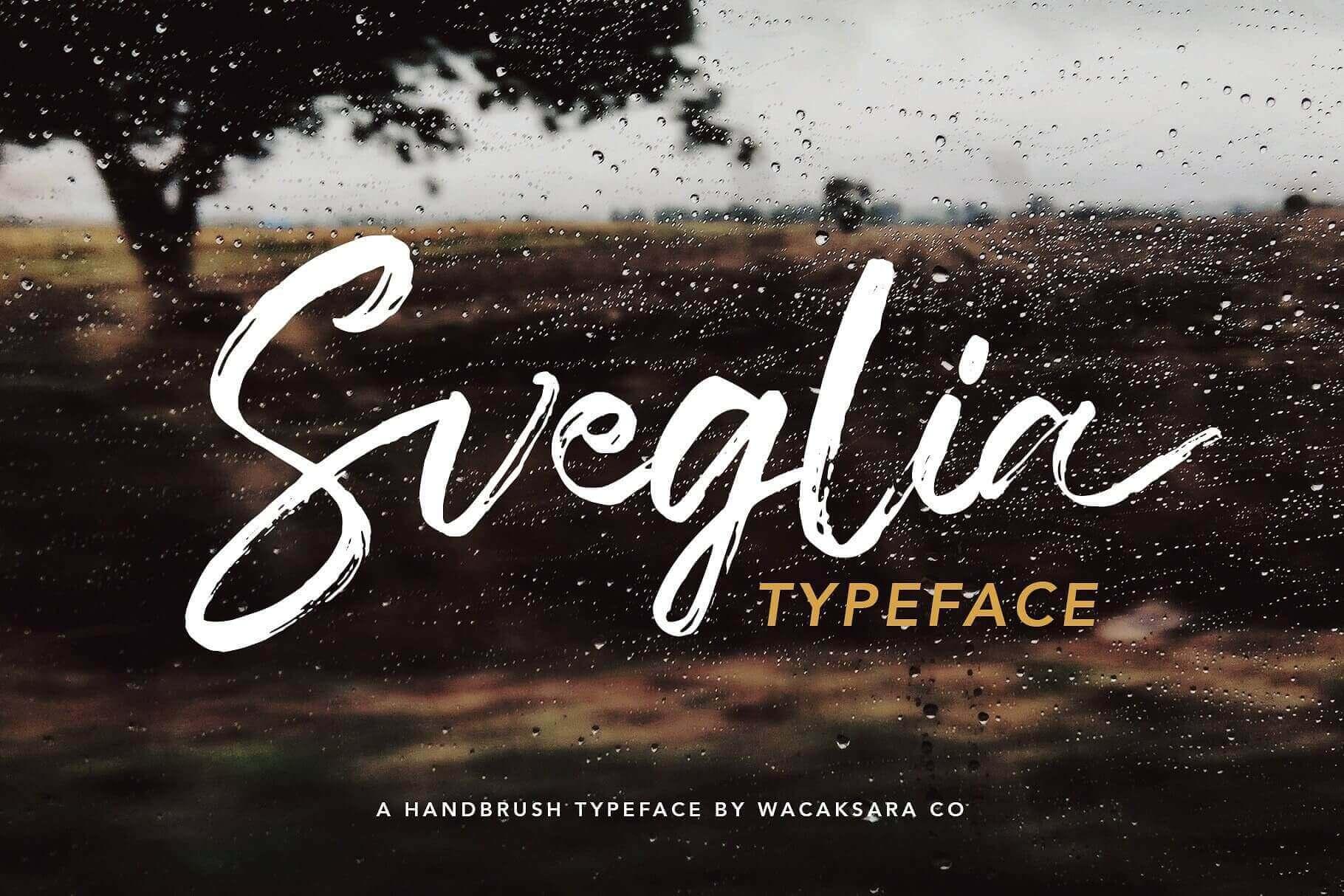 Sveglia, Hand Brush Casual Script Font