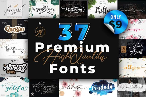 35+ Premium Fonts with OpenType Features