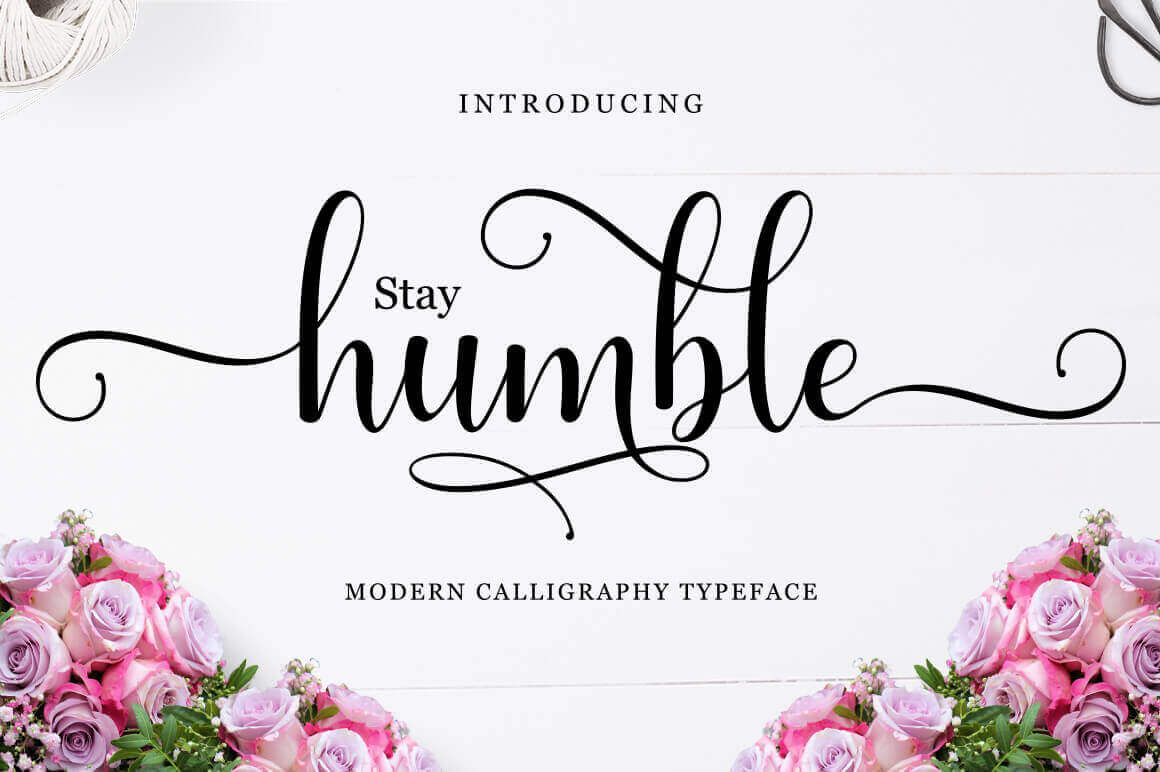 Humble Script Modern Calligraphy Typeface