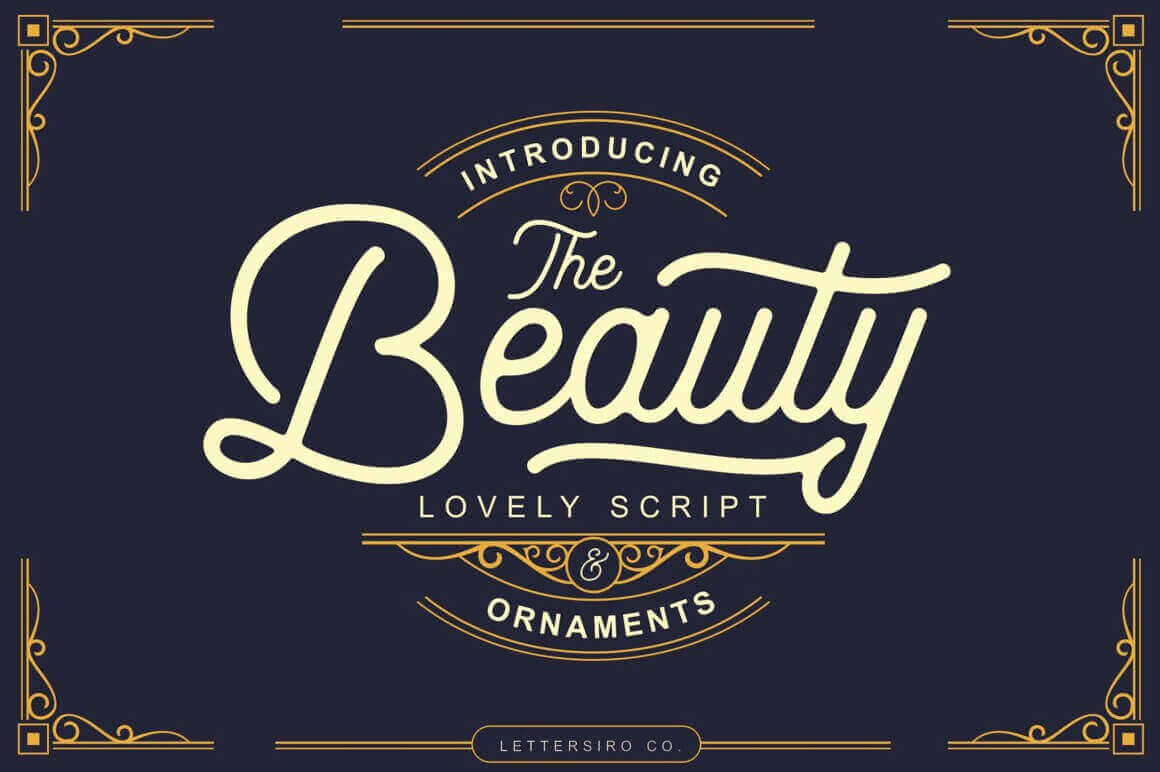 The Beauty Vintage Script with Bonus Ornaments