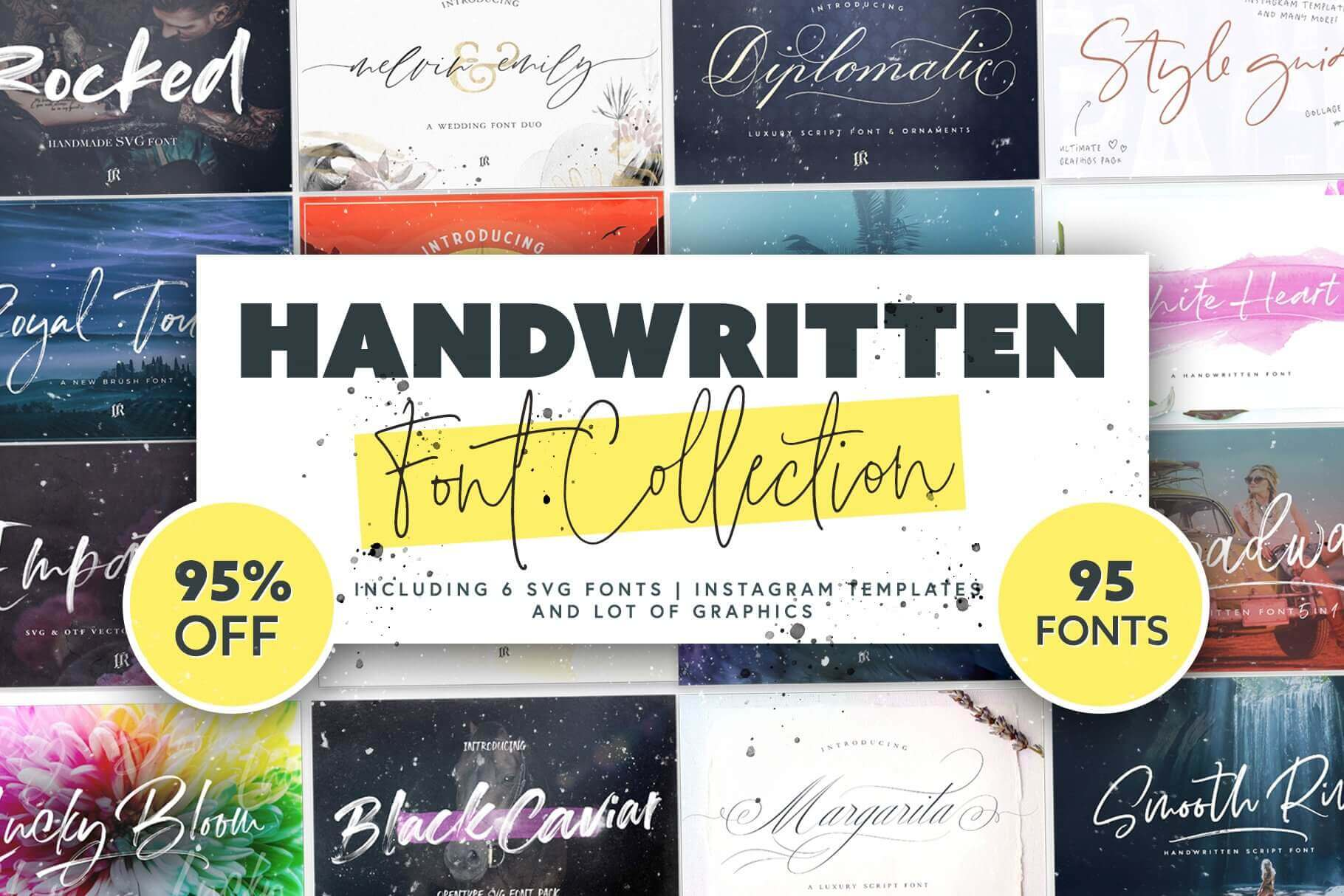 95 Handwritten Fonts, Instagram Templates & More