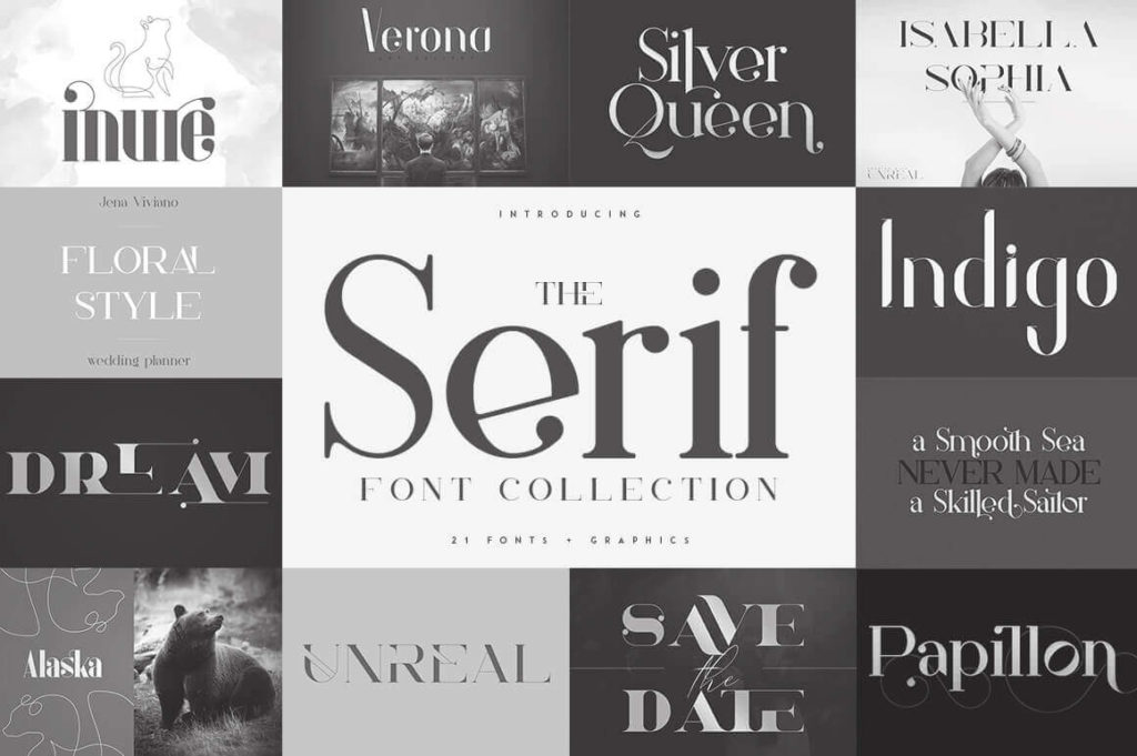 The Serif Font Collection, 21 Fonts + Extras